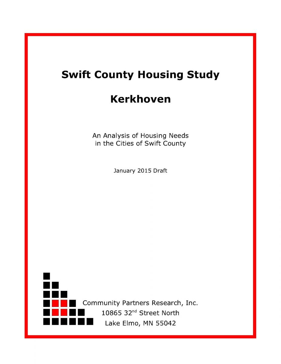 Thumbnail Image For 2015 Kerkhoven Housing Study - Click Here To See