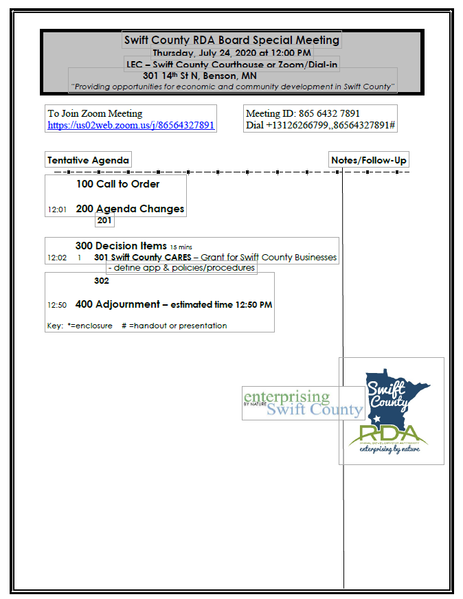 Thumbnail Image For RDA Board Packet - 7/24/2020 - Click Here To See