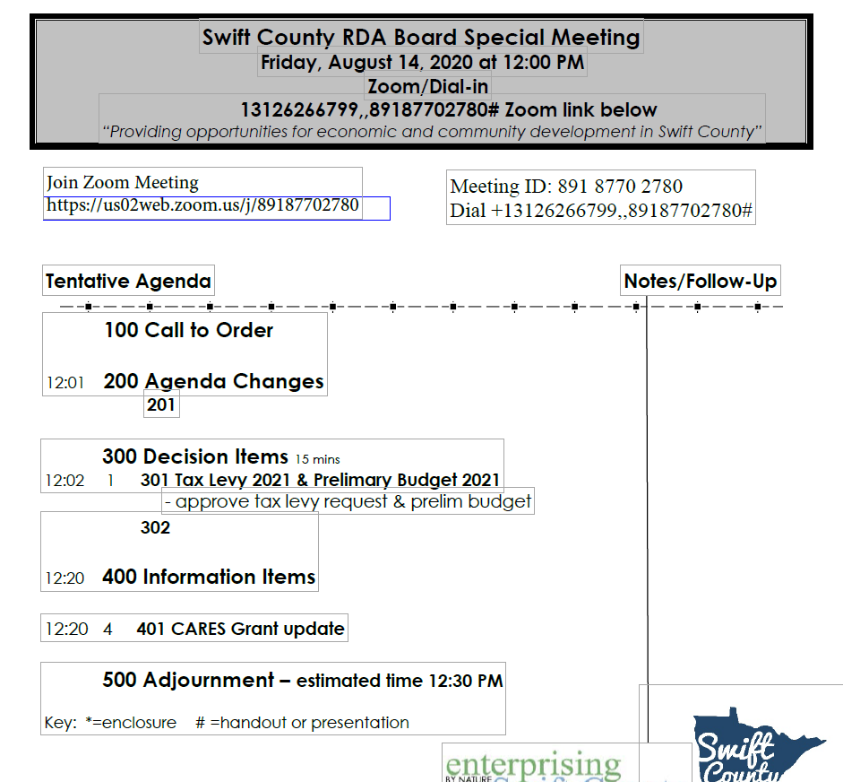 Thumbnail Image For RDA Board Packet - 8/14/2020 - Click Here To See