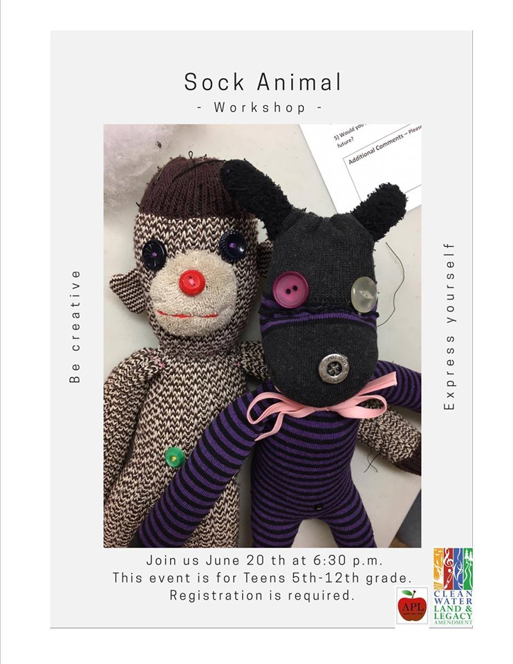 Sock Animals Workshop for Teens - Appleton Photo