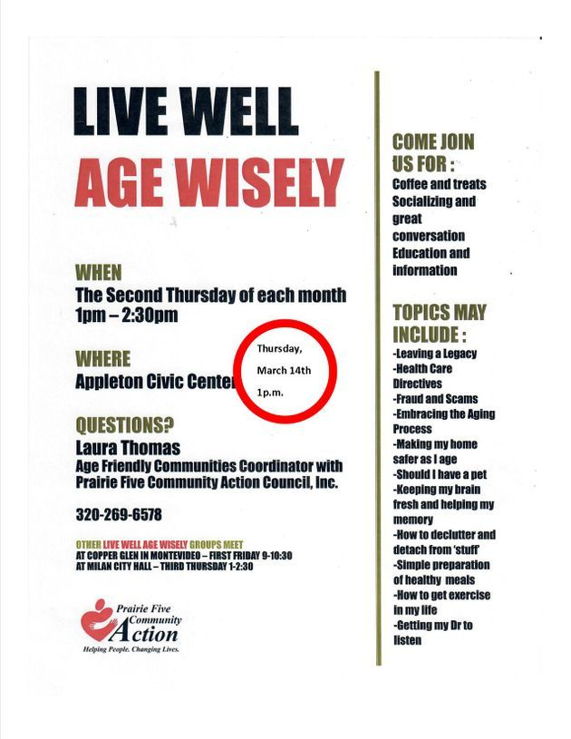 Live Well, Age Wisely - Appleton Photo