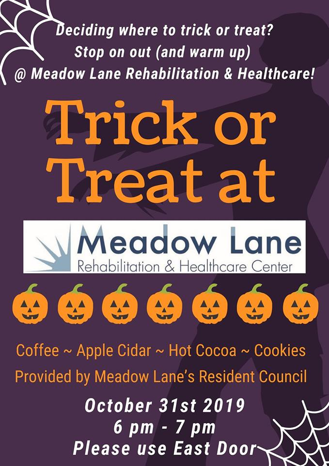 Meadow Lane Trick or Treat Photo - Click Here to See
