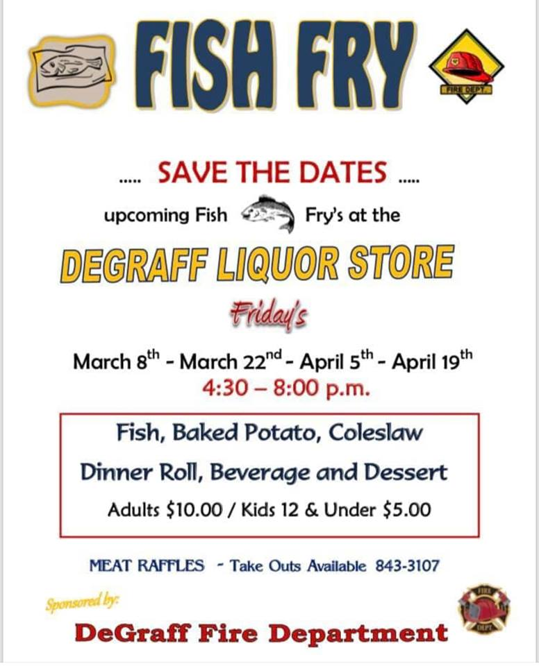 Event Promo Photo For Fish Fry - DeGraff